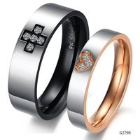 designer inspired jewelry cross love lovers ring titanium ring gj298 fashion rings for women 2013