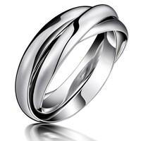 Popular accessories double finger ring trinuclear titanium finger ring gj005 eagle rings for men