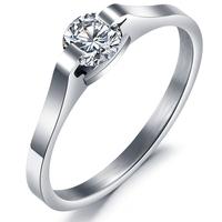 2014 min.order 1 pcs amethyst ring jewelry shining water eye ring small titanium ring gj254