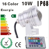 Spot Light 10W LED Underwater Light RGB Multicolor Changing 12V Voltage 1pc/lot Free Shipping