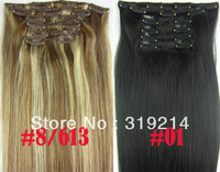 "20"" 24"" 28"" Full Head thickest 160g Remy Clip in Human hair extension Black, Brown, Blonde Optional"