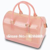 summer beach women handbag candy bags transparent Fashion brand purses Jelly candy color bag transparent silica gel candy totes