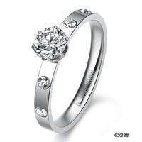 2014 Fashion accessories ultralarge 2014 rhinestone ring women's ring gj288 engagement jade jewelry