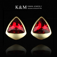 New arrival alloy crystal stud earrings two colors MOQ 20USD for free shipping