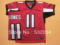 Free Shipping Wholesale Men's Atlanta  #11 Julio Jones Elite Jersey Team Color Jersey American Football Jersey