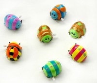 free shipping 10 pcs/lot kid's gift cute small wind up toy - walking ladybug
