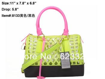 2013 New Arrived Hot sale hangdbag PU Designer Handbag Top Fashion Ladies Handbags Pink Serpentinite bags FL8133-4 Yellow