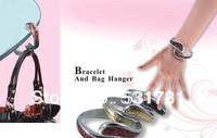 Free Shipping ! 2014 Uniquie design animal leather fashion bracelet purse hook bangle purse hanger wholesales