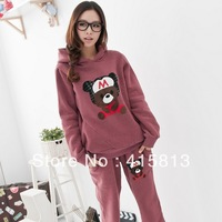 Free shipping Spring and Autumn bear baby autumn and winter maternity set sports set sweatshirt belly pants