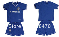 New Arrival 13-14 Chelsea home blue kids soccer uniforms Brand child football shirts thailand quality sport jersey Free Shipping