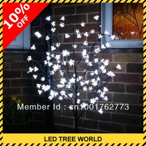 Fedex Free Shipping Outdoor Led Tree Light Pure White Led Blossom Tree 1.2 M(4ft) Pure White Led Cherry Tree(China (Mainland))