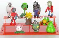 Plants VS Zombies PVZ Collection Figures 10pcs/set boss zombies snow figure retail package