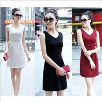 One-piece dress summer slim skirt fashion chiffon lace plus size full dress