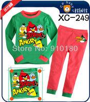 Free Shipping! 6 sets/lot Kids Cartoon nightwear,Baby Boys Girls cute pajamas,Long Sleeves homwear,Children sleepwear