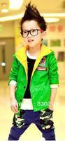 Free Shipping  NK14  Kids boys leather jacket leather Korean children coat baby coat children autumn