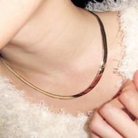 2013 Chic simple statement gold golden plated bijoux snake chain chocker necklace