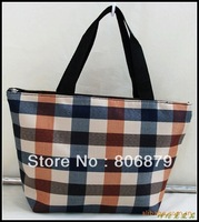 Manufacturers shelf plaid oxford cloth lovely ladies lunch bag lunch bags wholesale portable processing