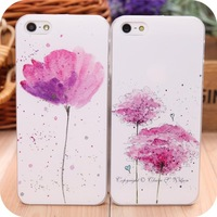 Small fresh colored drawing flower  wishing protective female phone case ultra-thin  for apple  iphone5