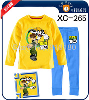 New design!!!Baby Boys cute cartoon sleepwear,kids long sleeves pajamas,Autumn/Spring nightwear/pyjamas/homewear 6 sets/lot