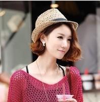 Fashion female summer hat strawhat fedoras cap jazz hat lovers hat sand sunbonnet hat for man