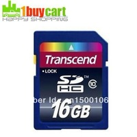 Wholesale Transcend 16 GB 16G SD SDHC Class 10 Memory Card 16G Free shipping