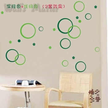 Circle bubble wallpaper abstract personalized wall stickers child real kitchen cabinet decoration