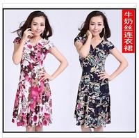 one-piece dress summer slim skirt fashion chiffon plus size