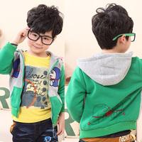 2013 spring DORAEMON 100% cotton boy outerwear baby top male girls clothing