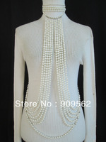 European and American style fashion jewelry pearl necklace multi-party private body chain