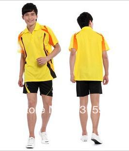 Free shipping top rated badminton table tennis shirt jersey sport shirt kit(China (Mainland))
