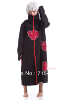 Free shipping Japan Naruto Akatsuki Cloak Anime Cosplay Costume Adult Halloween