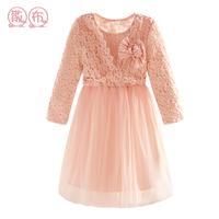 Spring and autumn girl dress child dress one-piece dress princess dress