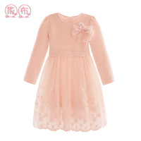 Autumn and winter children's clothing female child lace princess dress