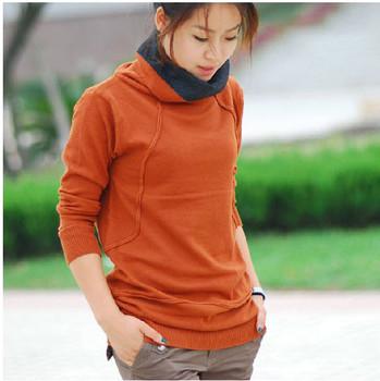 Winter 2 2012 women's two ways heap turtleneck slim hip long design sweater basic shirt
