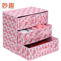 Free shipping Non-woven drawer underwear clothes storage box storage
