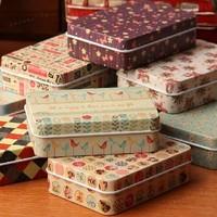 Free shipping 8.5x6.2x2.8cm iron leather box reminisced cigarette case cardfile zakka tin business card storage box