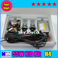 DHl freeshipping !! 5 sets fast start hid kit F5 55w H4 high low bixenon conversion kit ID184277