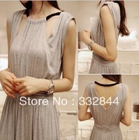 2013 new arrival women fashion one-piece long dress spring and summer bohemia halter-neck slim full dress Korea partysu