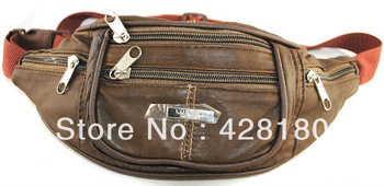 Pure sheepskin bag messenger bag genuine leather bag ride multifunctional travel bicycle bag