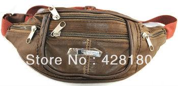 Pure sheepskin bag messenger bag genuine leather bag ride multifunctional travel bicycle bag