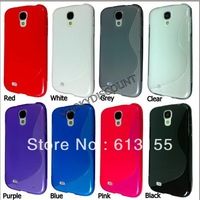 Galaxy S4 I9500 Case,New S Line Soft TPU Gel Back Cover Case For Samsung Galaxy S4 I9500 Free Shipping