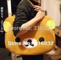 I2 New 2014, Christmas gift Rilakkuma large brown bear design plush hand bags , Rilakkuma plush toy bag