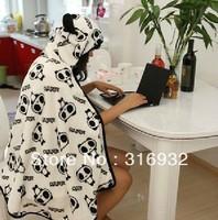 K1 Novelty items soft large plush panda blanket cloak about 165*75cm