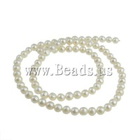 Free shipping!!!Round Cultured Freshwater Pearl Beads,, natural, white, 4-5mm, Hole:Approx 0.8mm, Length:15.5 Inch, 78PC/Strand