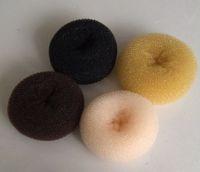 8.5-9cm Middle Nylon Doughnut Black/Brown/Blond Hair Styling Braiding Tools, Hair Styler Bun Shaper Former Donut Ring, 48pcs/lot