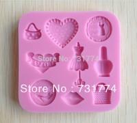 Purse shaped Chocolate Candy Jello 3D silicone Mold Mould Cartoon Figre/cake tools Soap Mold Sugar craft Cake DecorationCC077