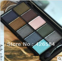 Free shipping, official authentic American NYX ten color eye shadow makeup palette belt eye shadow brush 09#Haute Model