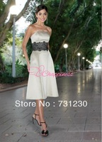 Modern Bridesmaid Dresses strapless short lace dresses 201211081924