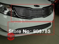 2011-2012 KIA Rio/K2 High quality stainless steel Front Grille Around Trim Racing Grills Trim k2