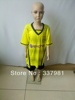Free Shipping Hot Sell 13/14 Borussia Dortmund  Yellow Kids Soccer Jerseys +Shorts, Children Soccer Suit, Youth Soccer Uniforms